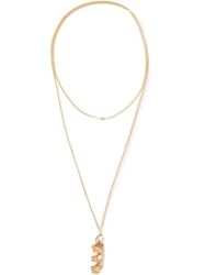 Imogen Belfield 'Triple Star' Necklace Metallic