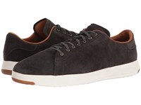 Cole Haan Grandpro Tennis Lux Midnight Grey Oiled Velour Suede Men's Shoes Black