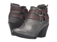 Blowfish Sucraa Pewter Metallic Glove Grey Dyecut Pu Women's Pull On Boots Black