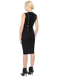 Givenchy Lace Up Milano Jersey Knit Pencil Dress