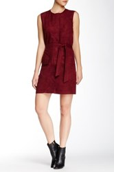 Shades Of Grey Sleeveless Trench Shift Dress Red