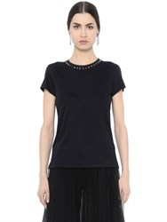 Valentino Studded Cotton Jersey T Shirt
