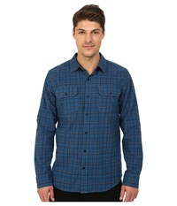 Hurley Dayton Long Sleeve Flannel Squadron Blue Men's Long Sleeve Button Up