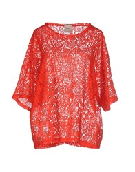 Nude Shirts Blouses Women Red