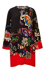 Etro Pop Floral Keyhole Tunic Black