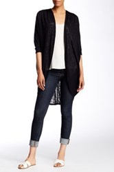 Painted Threads Pleat Tuck Cocoon Cardigan Black
