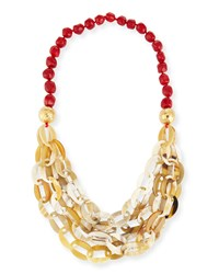 Horn Link Coral Necklace Red Coral Nest Jewelry