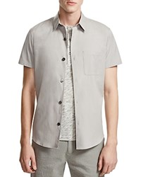 Theory Rammis Ostend Short Sleeve Slim Fit Button Down Shirt 100 Bloomingdale's Exclusive Alloy