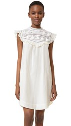Sea Tassel Combo Dress Ivory