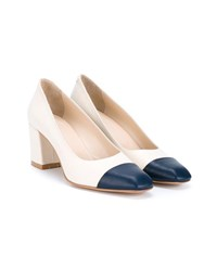 Maryam Nassir Zadeh Leather Pumps Navy White