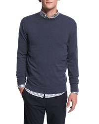 Theory Vetel Cashmere Long Sleeve Sweater Blue