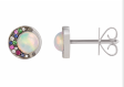 Noor Fares Tilsam Stud Earrings Eclipse In Opal With Grey Black Gold And Various Stones Multi