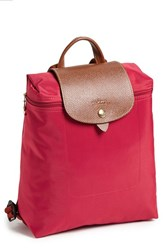 Longchamp 'Le Pliage' Backpack Red Red Garance