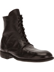 Guidi Donkey Lace Up Boot Black