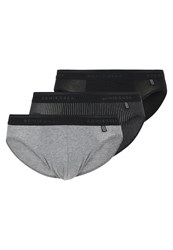 Schiesser Rio 3 Pack Briefs Black Dark Blue