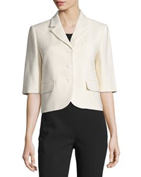 Michael Kors Half Sleeve Button Front Jacket Muslin Women's