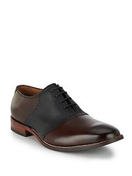 Cole Haan Williams Saddle Leather Oxfords Chestnut