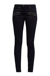 Great Plains Blue Black Zipped Skinny Jeans Blue