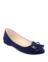 Nine West Simily Suede Flats Navy Blue