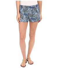 Hudson Siouxsie Printed Dophin Shorts In Forge Forge Women's Shorts Brown