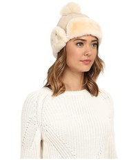 Ugg Heritage Up Flap Hat W Pom Fresh Snow Traditional Hats White