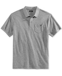 Armani Jeans Men's Pocket Polo Medium Grey