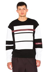 Mcq By Alexander Mcqueen Oversized Sweatshirt Black And White