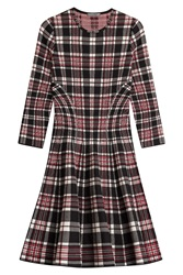 Alexander Mcqueen Tartan Wool Dress Multicolor