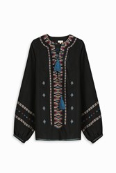 Talitha Women S Tribal Embroided Top Boutique1 Black