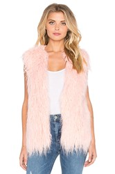 Minkpink Pretty In Pink Faux Fur Vest