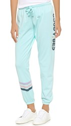 Spiritual Gangster Good Vibes Sweatpants Bleached Aqua