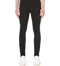 Tiger Of Sweden Slim Fit Skinny Jeans Blackened Black