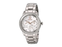 Citizen Fd2010 58A Eco Drive Silhouette Crystal Silver Tone Stainless Steel Analog Watches Bronze