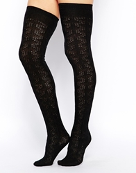 Gipsy Cashmere Mix Slouch Over The Knee Socks Black