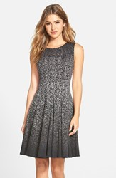 Eliza J Women's Print Ombre Sleeveless Fit And Flare Dress Black