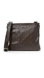 Wgaca Gucci Guccissima Messenger Bag Previously Owned Brown