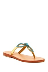Mystique Flower Crystal Sandal Blue