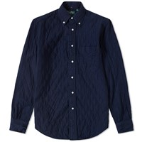 Gitman Brothers Vintage Quilted Overshirt Blue