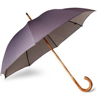 London Undercover D Lux Hickory Wood Handle Denim Umbrella Navy