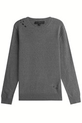 Iro Distressed Pullover With Wool Grey