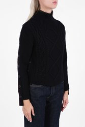 Rag And Bone Button Side Cable Jumper Black