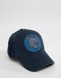 Diesel Washed Cotton Baseball Cap Blue