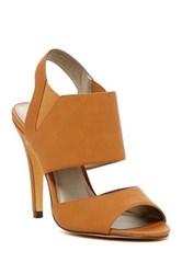 Michael Antonio Loop Peep Toe Heel Brown