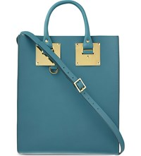 Sophie Hulme Mini Albion Leather Tote Jewel Green