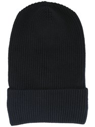 Stella Mccartney Large Ribbed Beanie Blue