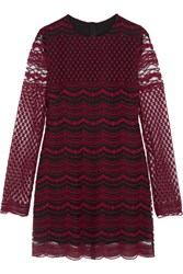 Philosophy Di Lorenzo Serafini Embroidered Tulle Mini Dress Merlot