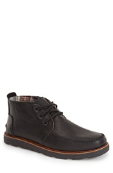 Toms Chukka Boot Men Black Leather