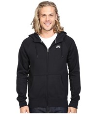 Nike Sb Icon Full Zip Hoodie Black White Men's Sweatshirt