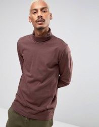 Puma Longsleeved Turtle Neck T Shirt In Brown 57444002 Brown Green