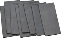 Cb2 Set Of 8 Poplin Grey Napkins